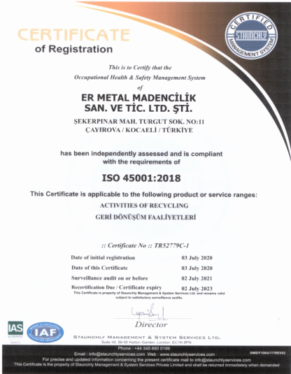 ISO 45001 2018
